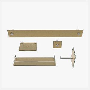Kit Acessórios para Banheiro Dourado Real 5 Peças VMEX