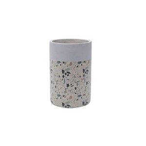 Vaso Concreto Granilite Fóssil Stardust 12x12x18cm Urban