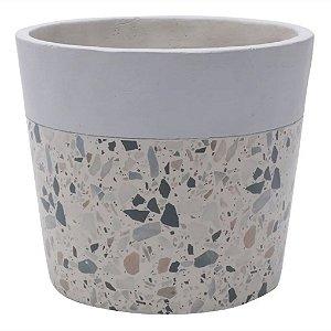 Vaso Concreto Granilite Fóssil Stardust 15x15x13cm Urban
