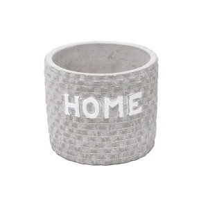 Cachepot de Concreto Home Bricks Cinza 11x11x9cm Urban