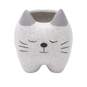 Cachepot Concreto Sleeping Cat Cinza 9x8x9cm Urban