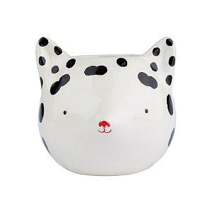 Cachepot Cerâmica Raposa Dots Branca 12x11x10cm Urban