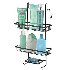 Porta Shampoo Duplo Para Box 29x49x23 Arthi