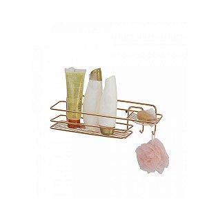 Prateleira para Banheiro Retangular Rose Gold 39x13x11 Arthi