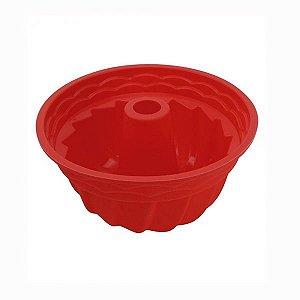 Forma de Bolo Vazada Silicone Vermelha 22cm Clink