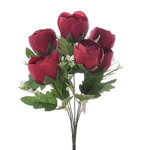 Buquê de Rosas Vermelhas Permanentes 33 cm Bela Flor