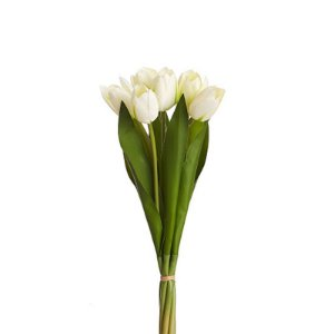 Buquê Tulipa Branco Permanente 40 cm Bela Flor