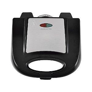 Sanduicheira Antiaderente Grill inox 2 750W Agratto