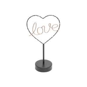 Luminária Led de Mesa Love Heart Urban 17x30x9 cm Urban
