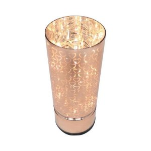 Luminária Led Vidro Hearts Rose Gold 8x8x20 cm Urban