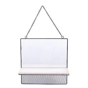 Espelho Emoldurado com Prateleira Square Vision Urban