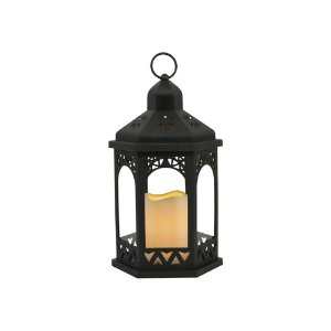 Lanterna com Led Coreto Preto 18x32x18 cm Studio Collecttion