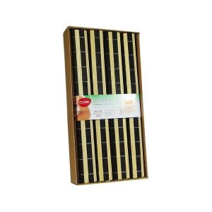 Jogo Americano Bambu e Preto com 4 Peças 30x34cm Clink