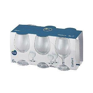 Conjunto de Taça Para Água Gallant 320ml Nadir