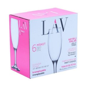 Conjunto de taças para Champagne 190ml 6 pçs Lav