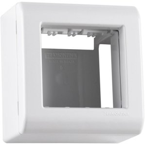 Caixa de Sobrepor 2 Postos Tramontina LizFlex Branca