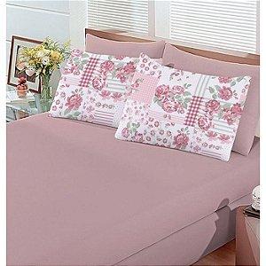 Jogo de cama Casal Basic 3 peças Esperanza Rose Bouton
