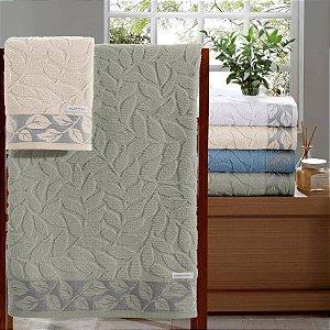 Toalha banho Jacquard Espiral 1 Peça 70x140 Branco Bouton