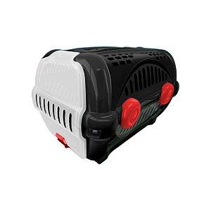 Caixa para Transporte Luxo N.1 Black c/ Vermelho Furacão Pet