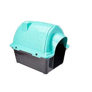 Casinha Plástica Iglu Número 2 Verde Água Furacão Pet