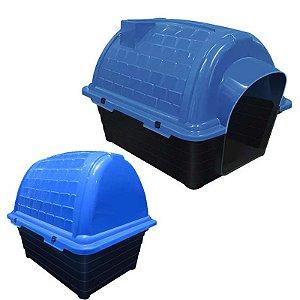 Casinha Plástica Iglu Número 1 Azul Furacão Pet