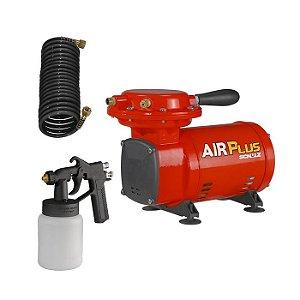 Motocompressor de Ar com Pés 250W com Kit de Pintura Schulz
