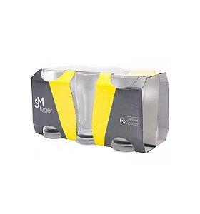 Jogo de Copos de Vidro para Cerveja 200ml 6 Pçs Lager SM