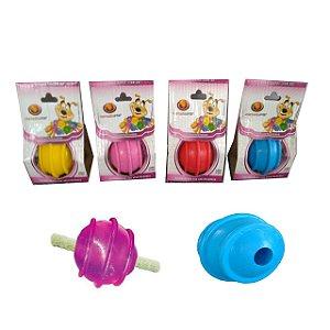 Brinquedo Bola Maciça Com Friso 50mm Porta Osso Furacão Pet