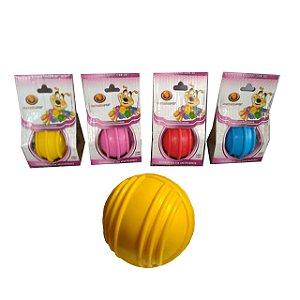 Brinquedo Bola Maciça Com Friso 85mm Porta Osso Furacão Pet