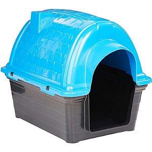 Casinha Plástica Iglu Azul Número 4 Furacão Pet