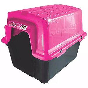 Casinha Plástica Tradicional Rosa Pink N.1 Furacão Pet