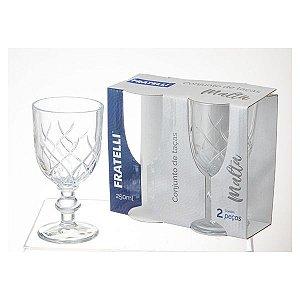 Conjunto de Taças para Vinho Modelo Malta 2 Peças Fratelli