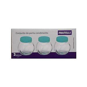 Conjunto Porta Condimentos 3 Peças de 115ml Fratelli