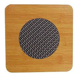 Descanso de Panela Bambu Quadrado 17x17 cm Fratelli