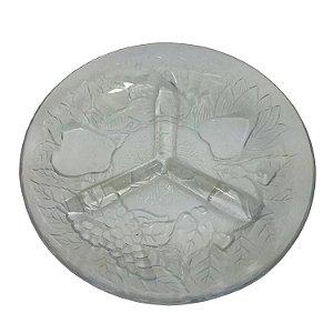 Petisqueira com 3 Divisórias em Vidro 20 cm Fratelli
