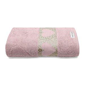 Toalha Banho Jacquard Passione 1 Peça 70x140 Rosa Bouton