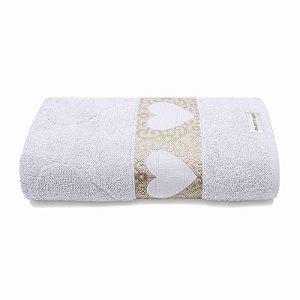 Toalha de Banho Passione 70x140 Branca 1 Peça Bouton