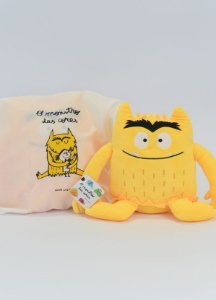 Pelúcia O monstro das cores - Amarelo (alegria)