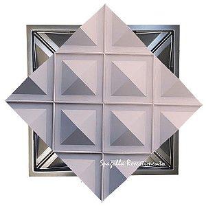 Forma Molde para Gesso 3D e Cimento Modelo Firenze 49X49 ABS - Esquadro Perfeito