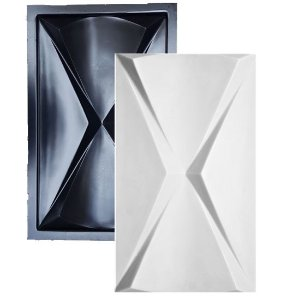 Forma Molde para Gesso 3D e Cimento ABS Modelo Paris 29x48 ABS - Esquadro Perfeito