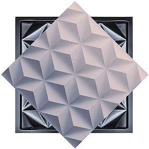 Forma Molde para Gesso 3D e Cimento Modelo Trapani 49x49 ABS - Esquadro Perfeito