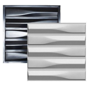 Forma Molde para Gesso 3D e Cimento Modelo Taranto 49x49 ABS - Esquadro perfeito