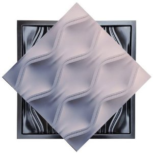 Forma Molde para Gesso 3D e Cimento Modelo Sardegna 49x49 ABS - Esquadro Perfeito