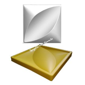 Forma Molde pra Gesso 3D e Cimento Silicone Modelo FLORAL 29x29 - Esquadro Perfeito