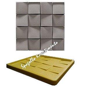 Forma Molde pra Gesso 3D e Cimento Silicone Modelo Telhadinoho 29x29 - Esquadro Perfeito