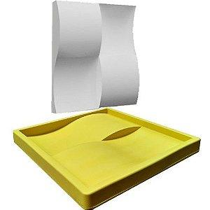 Forma Molde pra Gesso 3D e Cimento Silicone Modelo Tijolão 29x29 - Esquadro Perfeito