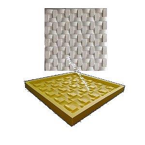 Forma Molde pra Gesso 3D e Cimento Silicone Modelo Trançada 29x29 - Esquadro Perfeito