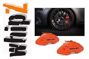 Capa Pinça de Freio Shutt Tuning laranja Universal ABS Roda Aro 14 ou Superior Par Similar Brembo
