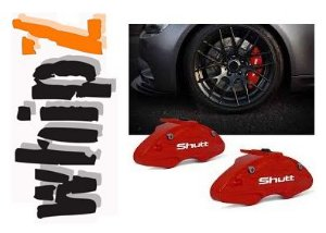 Capa Pinça de Freio Shutt Tuning vermelha Universal ABS Roda Aro 14 ou Superior Par Similar Brembo