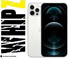 "iPhone 12 Pro Max 128GB Prateado iOS 5G Wi-Fi Tela 6.7"" Câmera - 12MP + 12MP + 12MP + Sensor LiDAR"